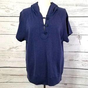 New York Laundry Vintage Short Sleeve Hooded Top